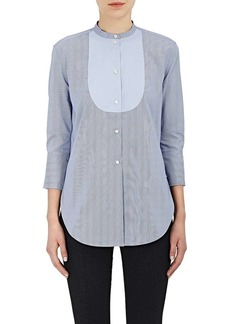 Helmut Lang Women's Striped Cotton Poplin Tuxedo Shirt