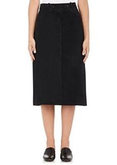 Helmut Lang Women's Suede A-Line Skirt