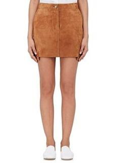 Helmut Lang Women's Suede Cargo Miniskirt