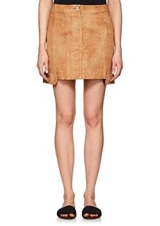 Helmut Lang Women's Suede Miniskirt