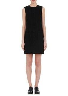 Helmut Lang Women's Suede Snap-Front Dress