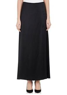 Helmut Lang Women's Twill Foldover Midi-Skirt