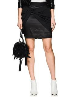 Helmut Lang Women's Twill Sarong Miniskirt