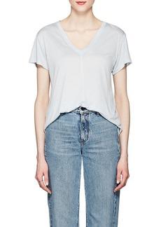 Helmut Lang Women's V-Neck Slub Jersey T-Shirt