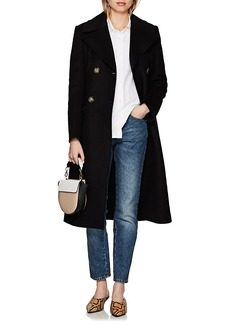 4cbc9388b5f Helmut Lang Women s Virgin Wool-Blend Melton Double-Breasted Coat