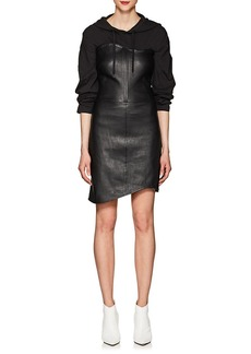 Helmut Lang Women's Wavy Leather Dress