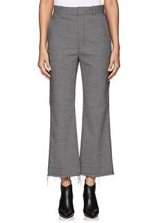 Helmut Lang Women's Wool-Blend Frayed Trousers