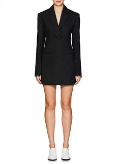 Helmut Lang Women's Wool-Blend Herringbone Blazer Minidress