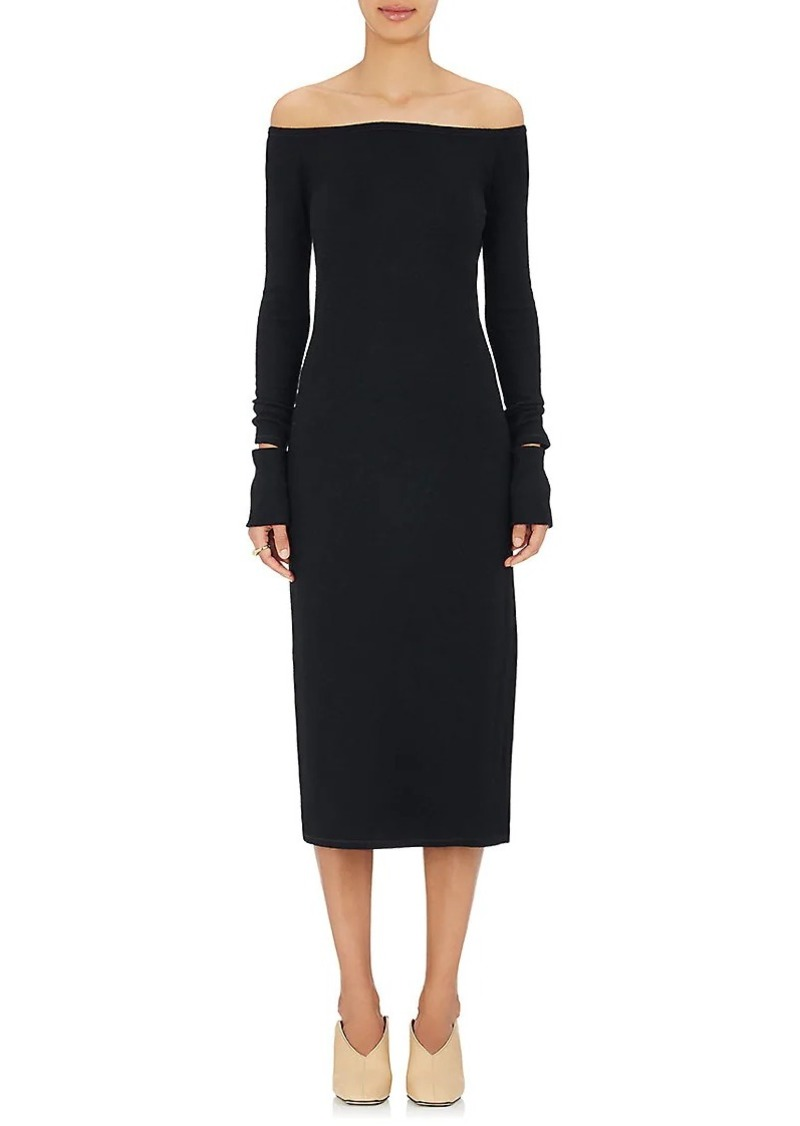 Helmut Lang Women's Wool-Blend Off-The-Shoulder Dress