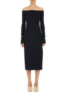 Helmut Lang Women's Wool-Blend Off-The-Shoulder Dress