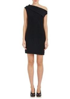 Helmut Lang Women's Wool-Blend One-Shoulder Minidress
