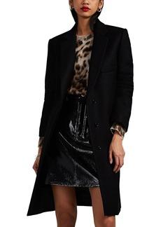 Helmut Lang Women's Wool Melton Overcoat