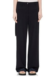 Helmut Lang Women's Worsted Wool Wide-Leg Trousers