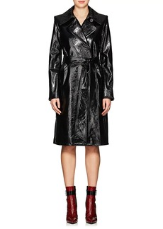 Helmut Lang Women's Wrinkled Patent Leather Trench Coat