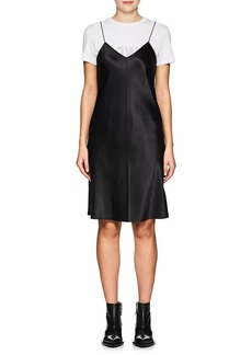 Helmut Lang Women's Zip-Trimmed Silk Minidress