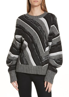 Helmut Lang Wool Blend Ombré Stripe Sweater