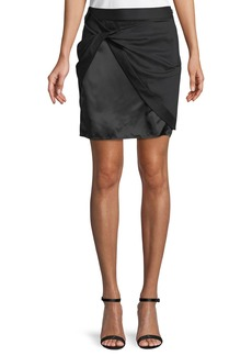 Helmut Lang Wool Sarong Mini Skirt