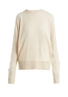 Helmut Lang Wool shredded knit sweater