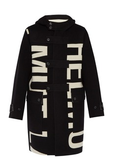 Helmut Lang Woven logo double-faced wool coat