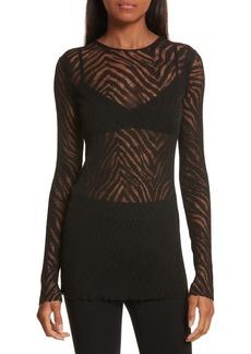 Helmut Lang Zebra Knit Pullover