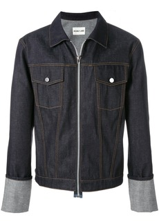 Helmut Lang zip up denim jacket - Blue