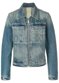 Helmut Lang zipped denim jacket - Blue