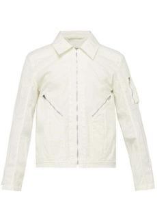 Helmut Lang Zipped-pocket cotton jacket