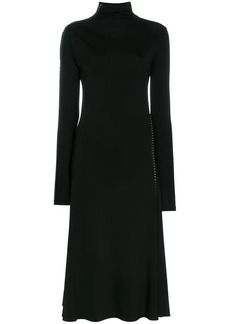 Helmut Lang high neck stud embellished dress