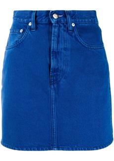 Helmut Lang high-rise denim mini skirt