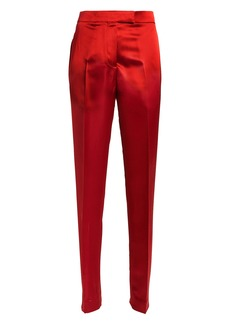 Helmut Lang High-Rise Satin Straight Leg Trousers