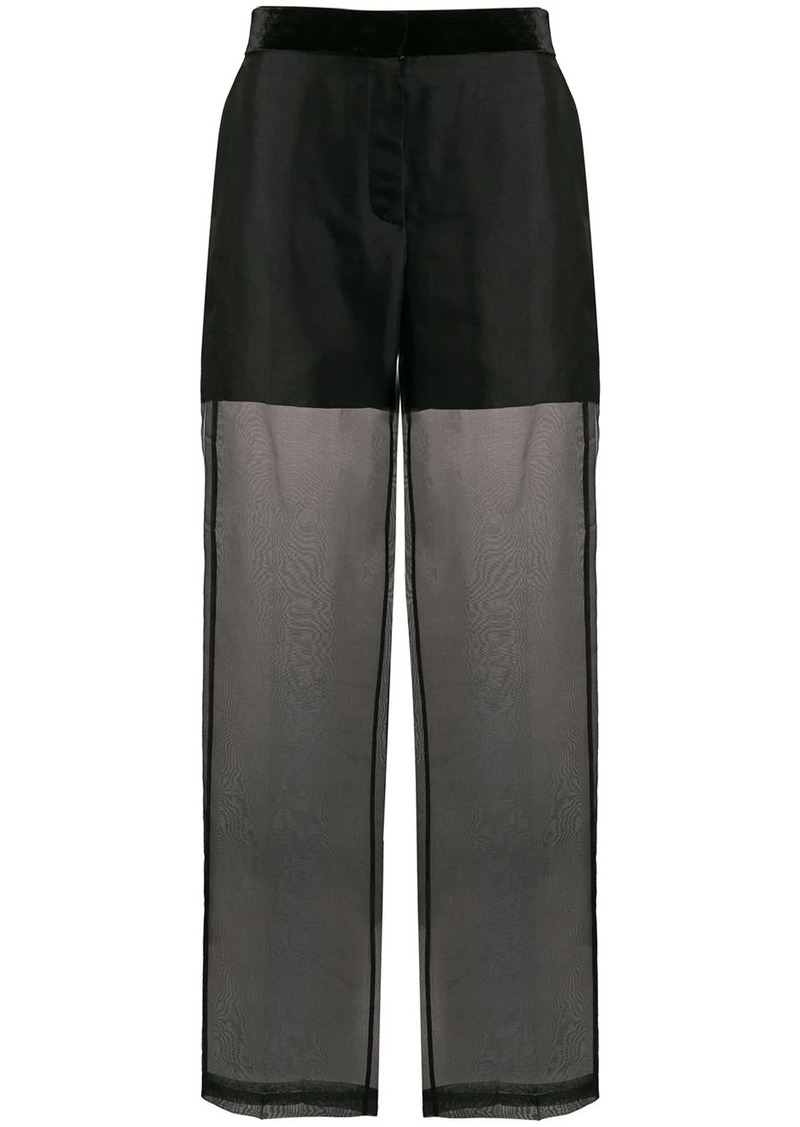 Helmut Lang high rise sheer trousers