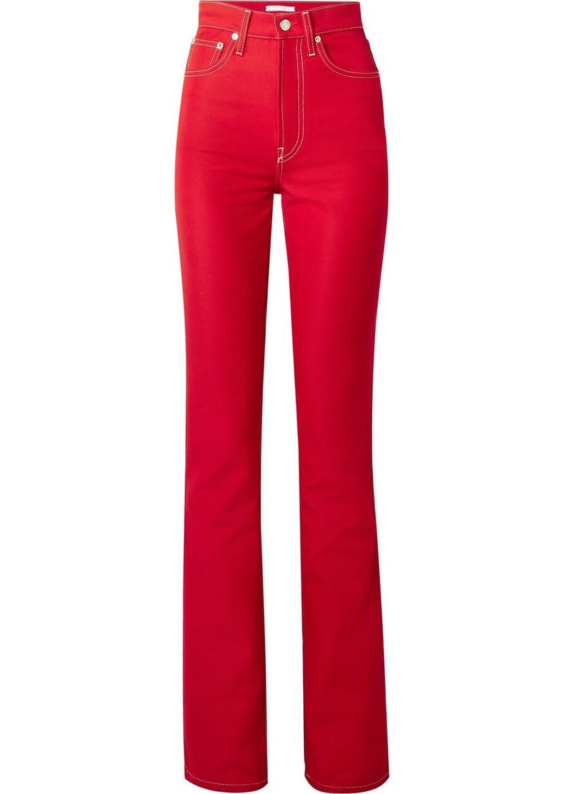 Helmut Lang High-rise Slim-leg Jeans