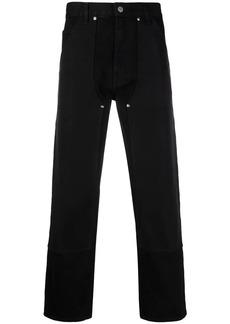 Helmut Lang overlay-detail straight-leg jeans