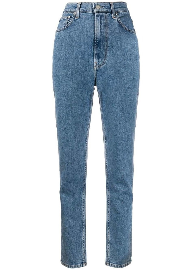 Helmut Lang high-rise tapered jeans