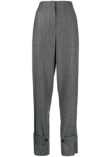 Helmut Lang high-waisted ankle strap trousers