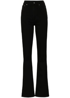Helmut Lang high waisted bootcut cotton blend jeans