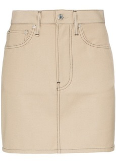 Helmut Lang high-waisted contrast stitch mini skirt