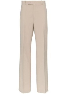 Helmut Lang high waisted wide leg cotton suit trousers