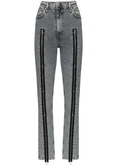 Helmut Lang zip-detailed skinny jeans