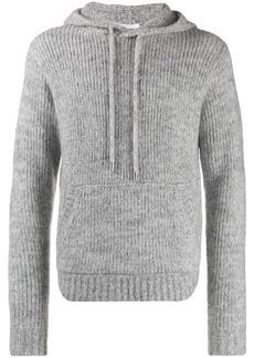 Helmut Lang hooded knit jumper