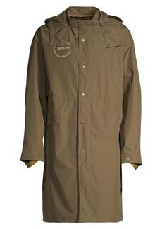 Helmut Lang Hooded Recycled Nylon Rain jacket