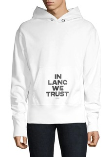 Helmut Lang In Lang We Trust Graphic Hoodie