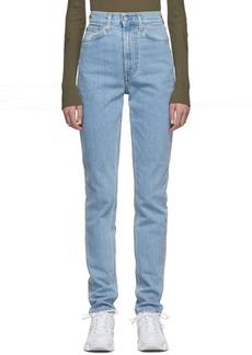 Helmut Lang Indigo Femme Hi Spikes Jeans
