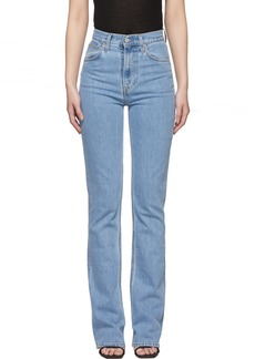 Helmut Lang Indigo Femme High Bootcut Jeans