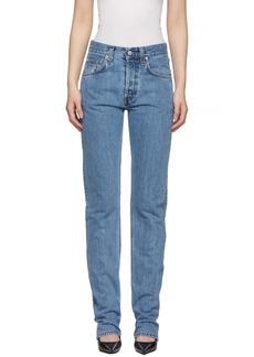 Helmut Lang Indigo Masc High Straight Jeans