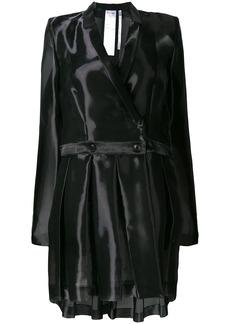 Helmut Lang iridescent button up coat
