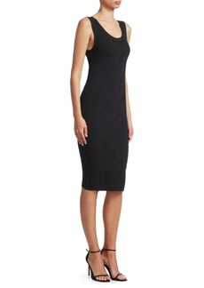 Helmut Lang Jacquard Sheath Dress