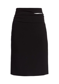 Helmut Lang Jersey Pencil Skirt