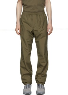 Helmut Lang Khaki Pull-On Track Pants