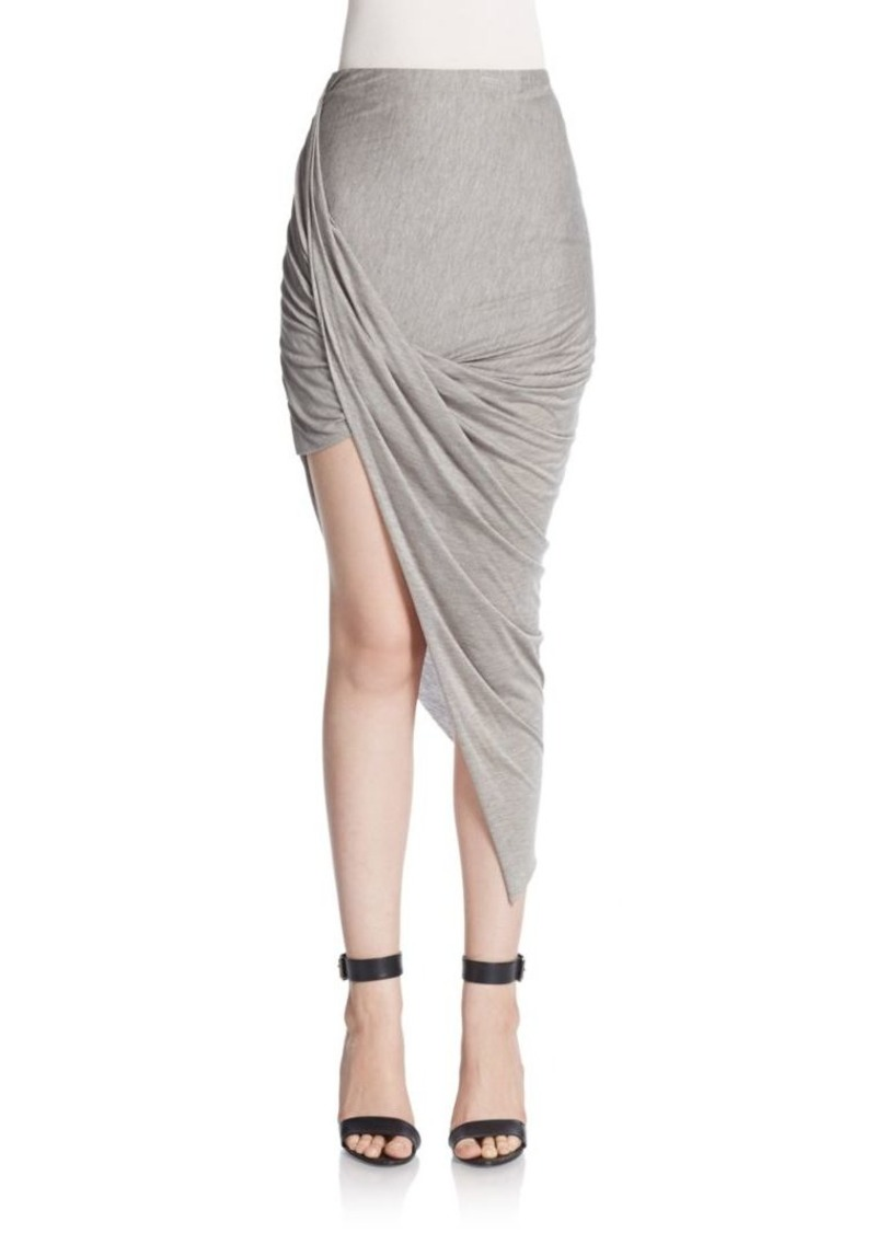 Helmut Lang Kinetic Asymmetrical Draped & Twisted Skirt